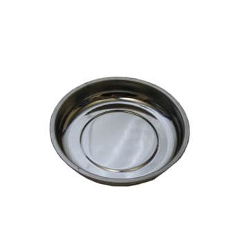 """2 x 4"""" (108mm) ROUND MAGNETIC TRAY with PVC BASE dish bowl screws bolts nuts"""